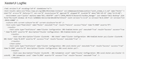This is the XML produces from Vester/Pester.