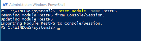 Reset-Module ~ Something that's been missing for awhile.